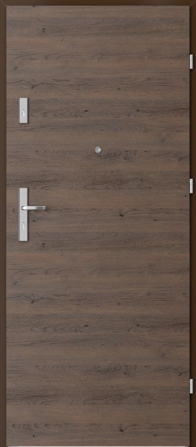 Podobne produkty                                  Drzwi wejściowe do mieszkania                                  AGAT Plus pełne - poziomy układ  okleiny