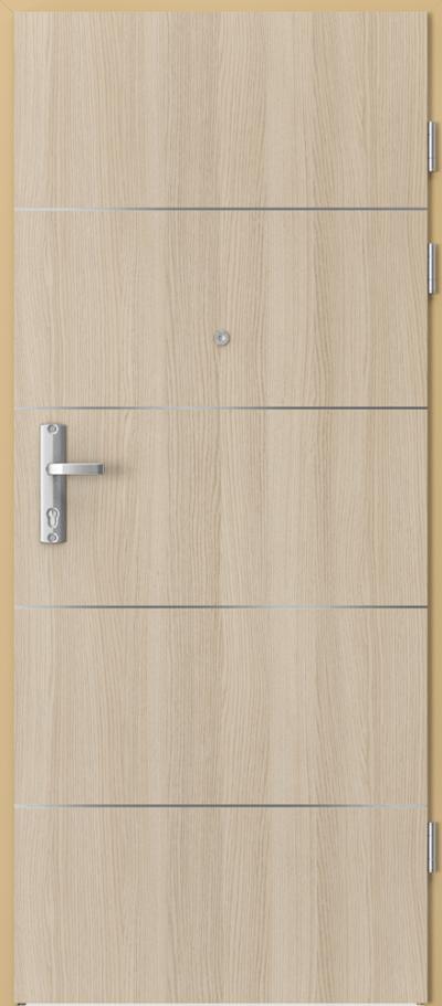 Drzwi wejściowe do mieszkania EXTREME RC3 intarsje 6 Okleina CPL HQ 0,2 ***** Dąb Milano 1