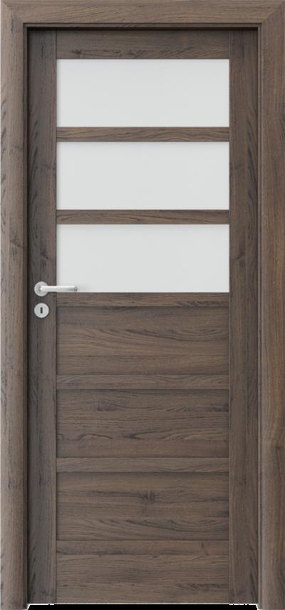 Drzwi wewnętrzne Porta VERTE HOME, A A.3 Okleina Portasynchro 3D *** Dąb Szkarłatny