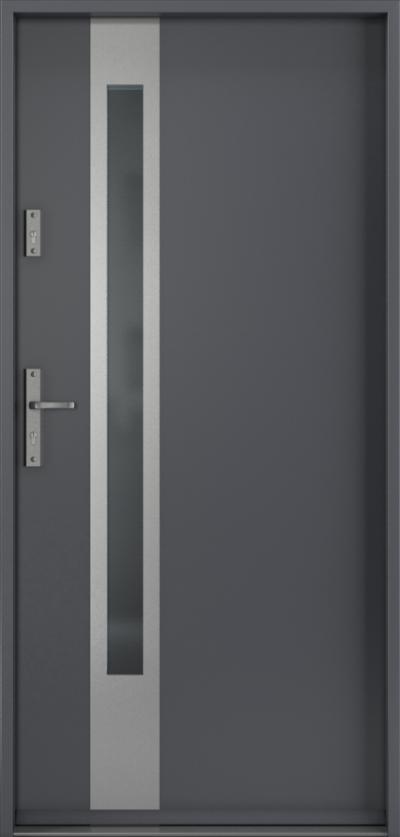 Drzwi wejściowe do domu Steel SAFE RC3 D1 Blacha Stalowa Laminowana PCV ***** Antracyt