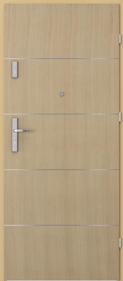 Drzwi wejściowe do mieszkania OPAL Plus intarsje 6 Okleina Naturalna Dąb **** Dąb 1