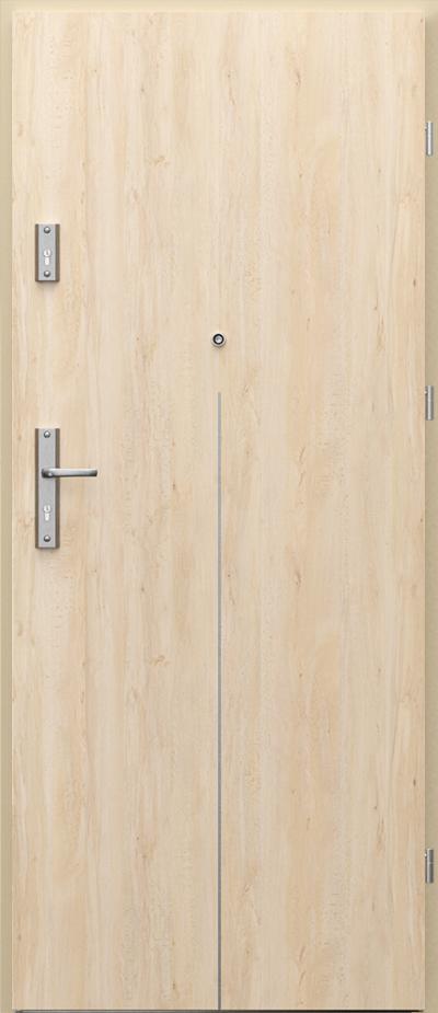 Drzwi wejściowe do mieszkania AGAT Plus intarsje 9