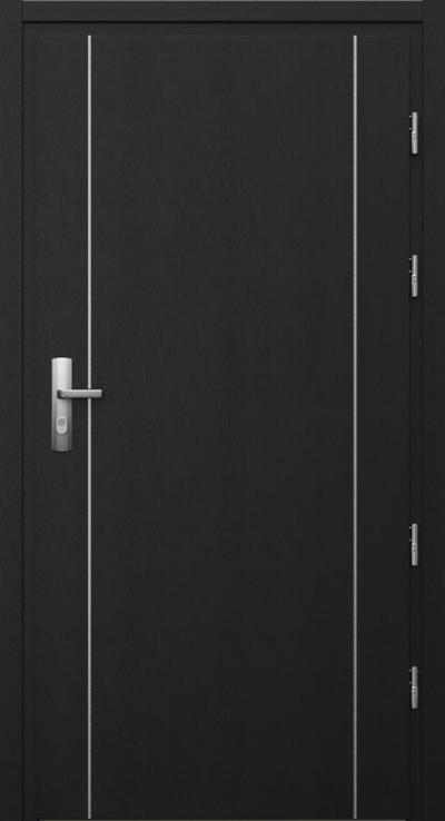 Drzwi techniczne Przeciwpożarowe EI 30 intarsje 1