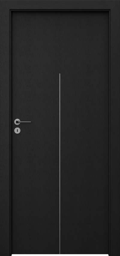 Drzwi wewnętrzne Natura LINE H.1 Okleina Naturalna Select **** Czarny
