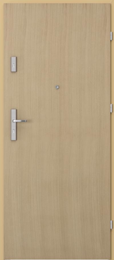 Drzwi wejściowe do mieszkania AGAT Plus pełne Okleina Naturalna Dąb **** Dąb 1