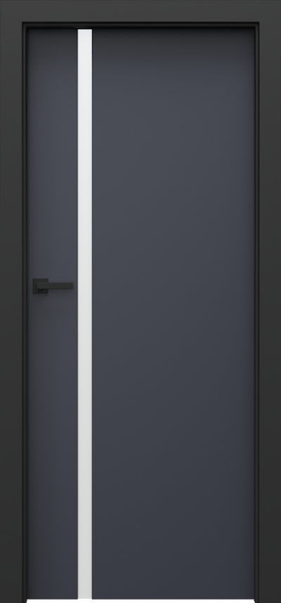 Drzwi wewnętrzne Porta LOFT 4.A Okleina CPL HQ 0,2 ***** Antracyt HPL CPL