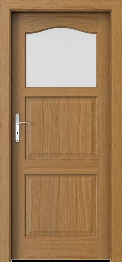 Drzwi wewnętrzne MADRYT małe okienko Okleina Naturalna Dąb Satin **** Dąb Winchester