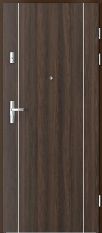 Drzwi wejściowe do mieszkania KWARC intarsje 1 Okleina CPL HQ 0,7 ****** Dąb Milano 5