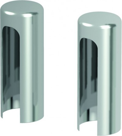 Accessories Hinges and hinge covers Covers for hinges for exterior doors (set per one hinge) silver METAL Silver