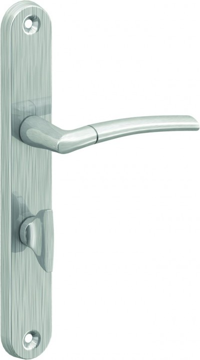 Accessories ROYAL silver brushed with bathroom blockade