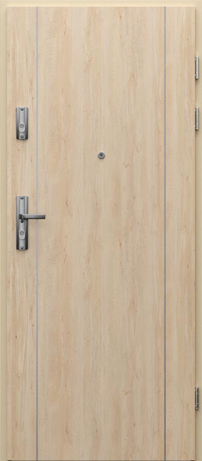 Drzwi wejściowe do mieszkania KWARC intarsje 1