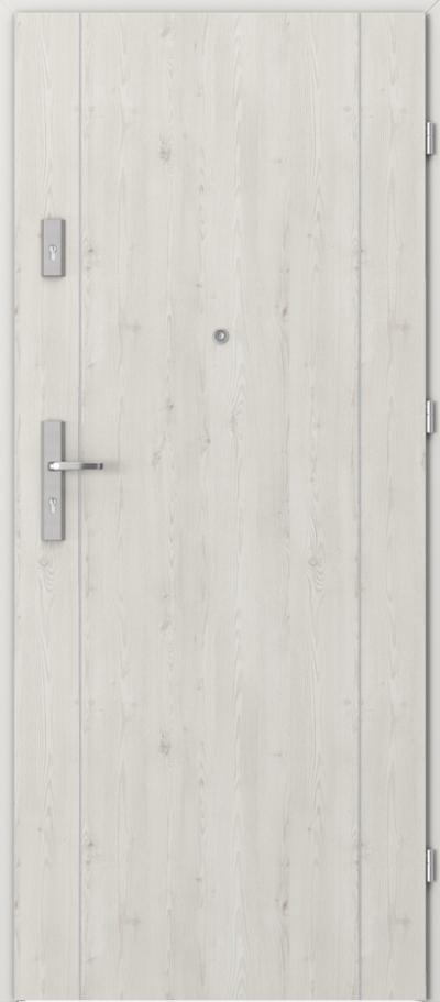 Drzwi wejściowe do mieszkania AGAT Plus intarsje 1 Okleina Portasynchro 3D *** Sosna Norweska