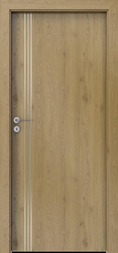 Drzwi wewnętrzne Porta LINE B.1 Okleina Portaperfect 3D **** Dąb Naturalny