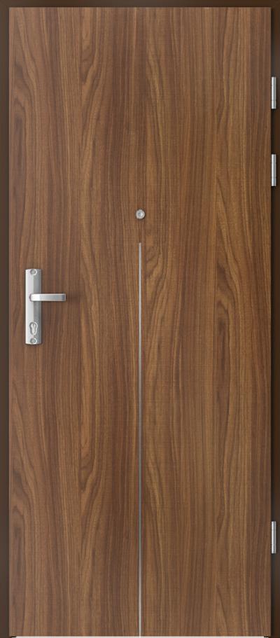 Drzwi wejściowe do mieszkania EXTREME RC3 intarsje 9 Okleina CPL HQ 0,2 ***** Orzech Modena 1
