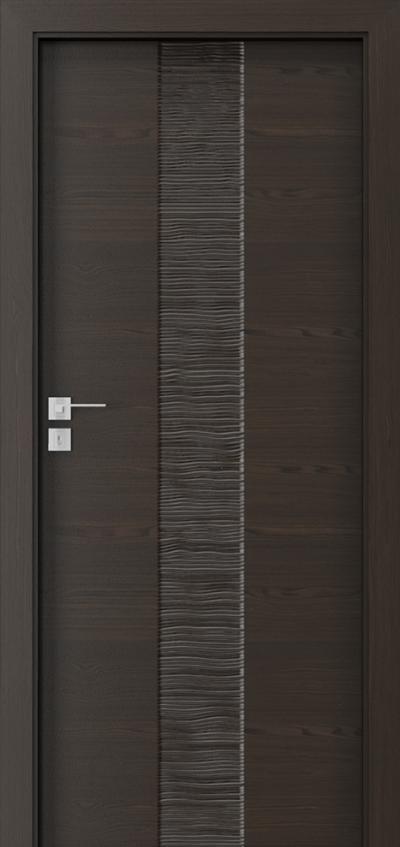 Drzwi wewnętrzne Natura IMPRESS 4 Okleina Naturalna Select **** Orzech Ciemny