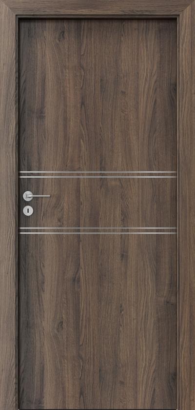 Drzwi wewnętrzne Porta LINE C.1 Okleina Portasynchro 3D *** Dąb Szkarłatny