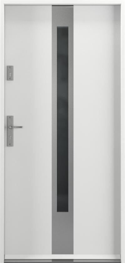 Drzwi wejściowe do domu Steel SAFE RC2 C1 Farba Poliestrowa ***** Biały Premium RAL 9003
