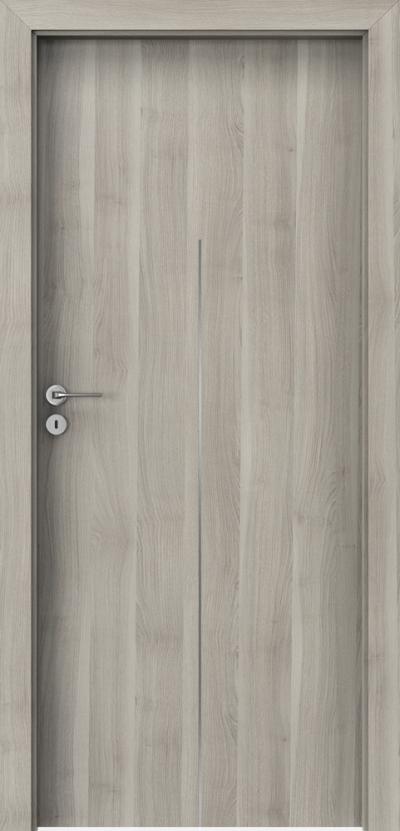 Drzwi wewnętrzne Porta LINE H.1 Okleina Portasynchro 3D *** Akacja Srebrna
