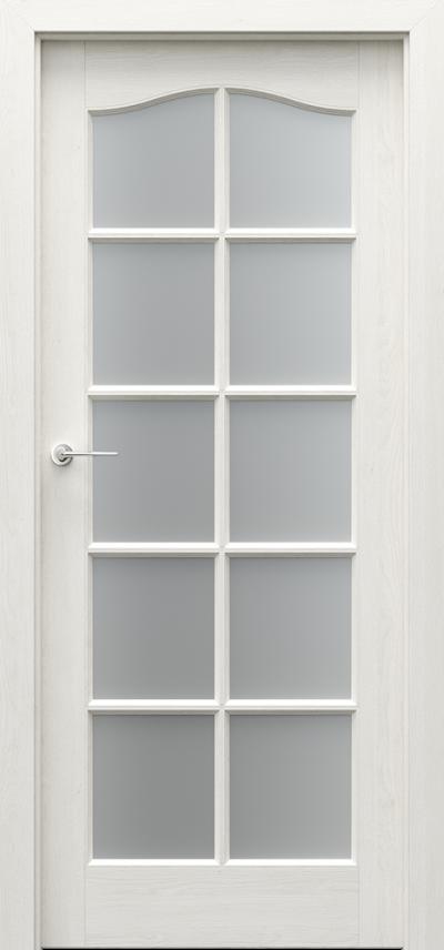 Drzwi wewnętrzne MADRYT Duży Szpros Okleina Naturalna Dąb Satin **** Dąb Biały
