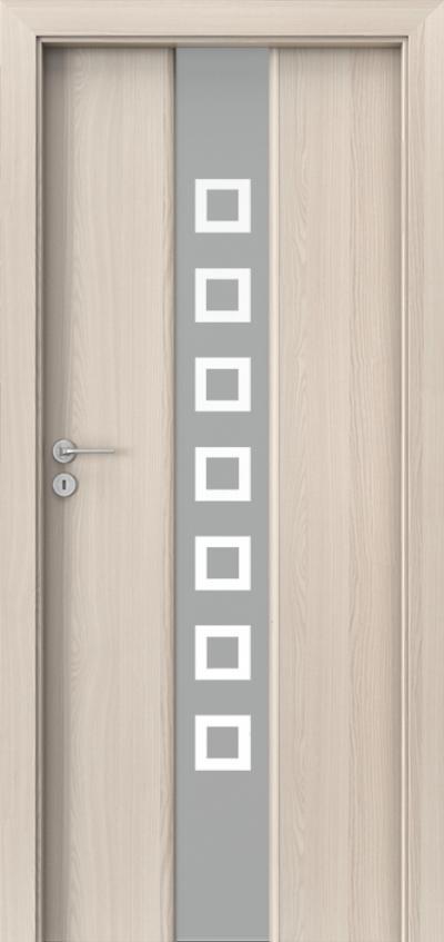 Drzwi wewnętrzne Porta FOCUS 2.0-matowa-kwadraciki Okleina Portadecor *** Orzech Bielony