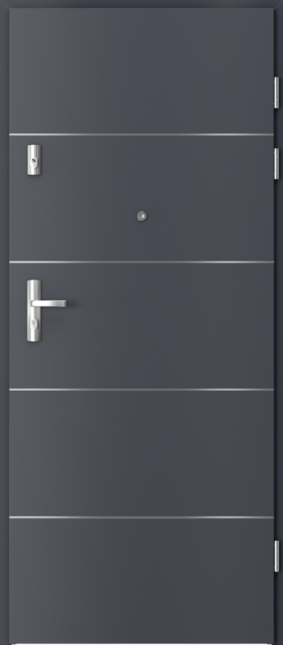 Drzwi wejściowe do mieszkania GRANIT intarsje 6 Okleina CPL HQ 0,2 ***** Antracyt HPL CPL