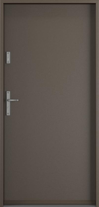 Drzwi wejściowe do domu Steel SAFE RC3 A0 Farba Poliestrowa ***** Metalic Titanium