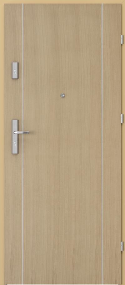 Drzwi wejściowe do mieszkania OPAL Plus intarsje 1 Okleina Naturalna Dąb **** Dąb 1
