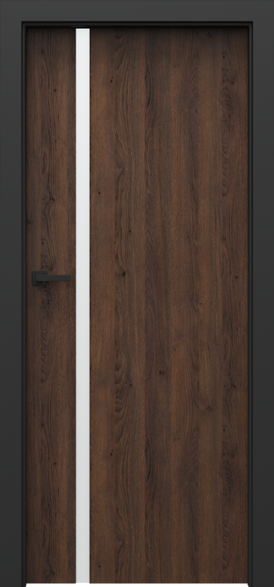 Drzwi wewnętrzne Porta LOFT 4.A Gladstone/Halifax ****** Dąb Brązowy
