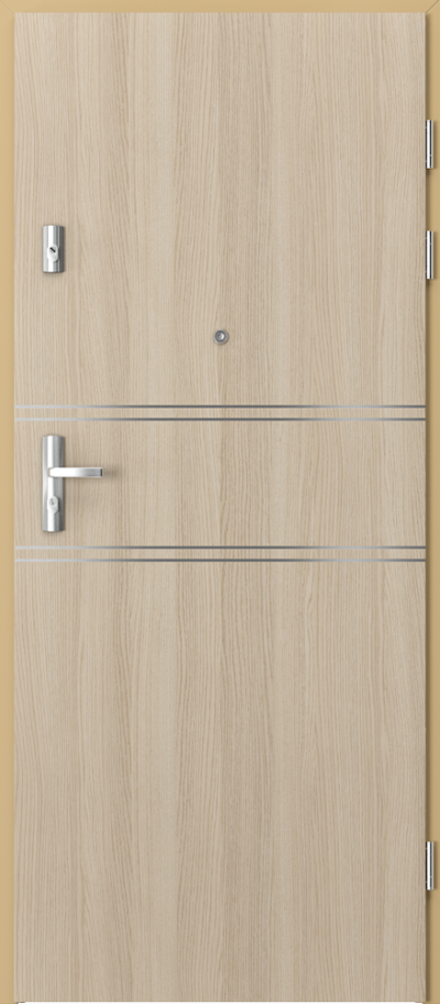 Drzwi wejściowe do mieszkania GRANIT intarsje 4 Okleina CPL HQ 0,7 ****** Dąb Milano 1
