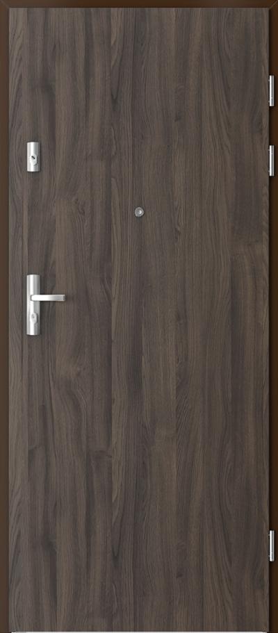 Drzwi wejściowe do mieszkania KWARC pełne Okleina Portasynchro 3D *** Dąb Ciemny