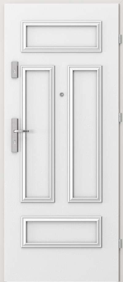 Drzwi wejściowe do mieszkania AGAT Plus ramka 2 Okleina Naturalna Dąb Satin **** Dąb Biały RAL 9016