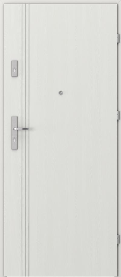 Drzwi wejściowe do mieszkania AGAT Plus intarsje 3 Okleina Portasynchro 3D *** Wenge White