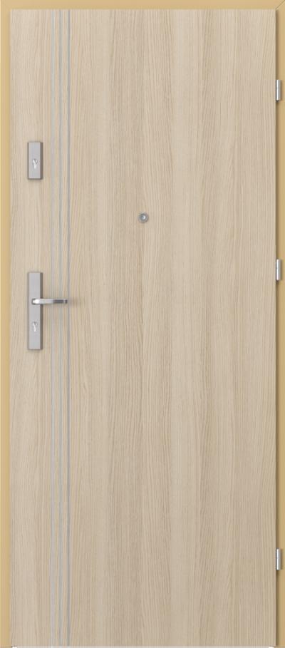Drzwi wejściowe do mieszkania OPAL Plus intarsje 3 Okleina CPL HQ 0,7 ****** Dąb Milano 1