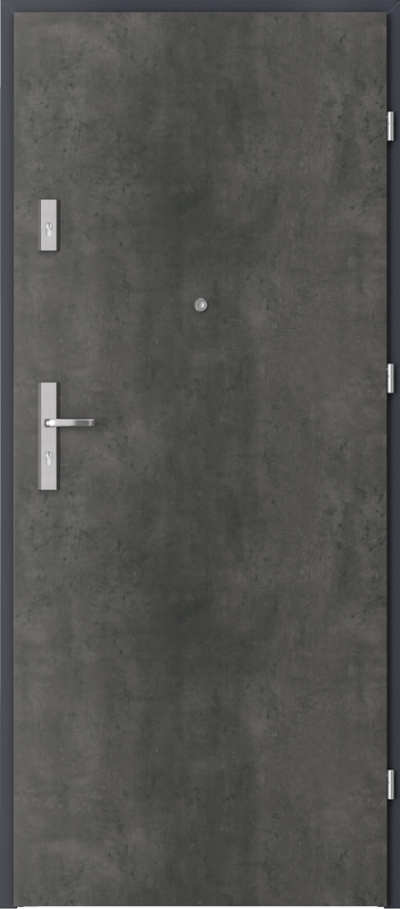 Drzwi wejściowe do mieszkania AGAT Plus pełne Okleina CPL HQ 0,7 ****** Beton Ciemny