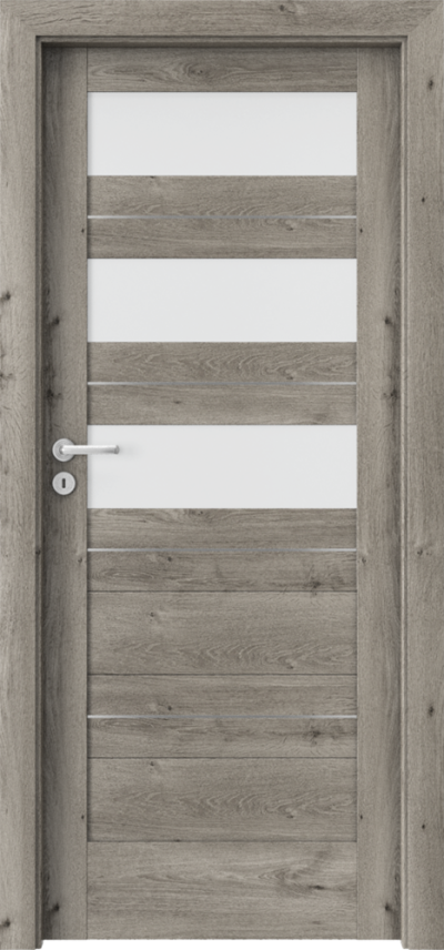Drzwi wewnętrzne Porta VERTE HOME, C C.3 intarsje Okleina Portaperfect 3D **** Dąb Syberyjski