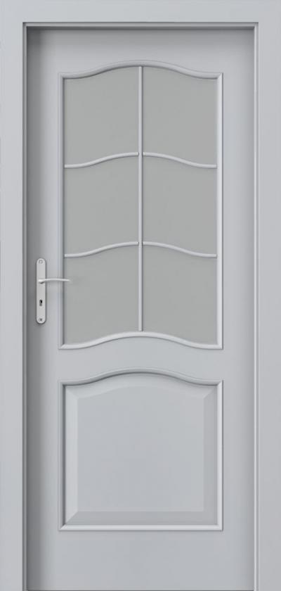 Drzwi wewnętrzne Porta NOVA 7.2 Okleina Portadecor *** Popielaty Euroinvest