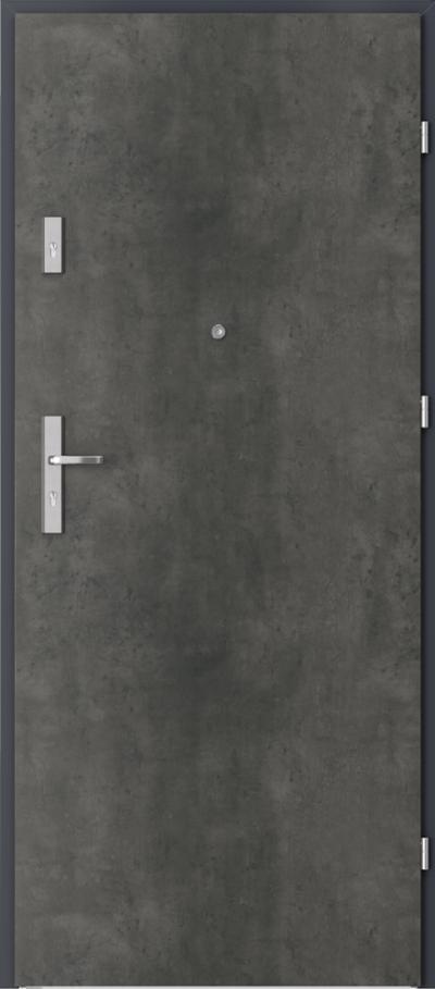 Drzwi wejściowe do mieszkania OPAL Plus pełne Okleina CPL HQ 0,2 ***** Beton Ciemny