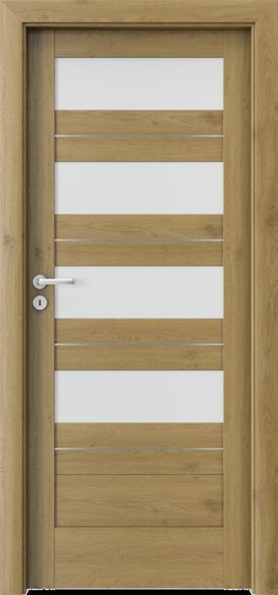 Drzwi wewnętrzne Porta VERTE HOME, C C.4 intarsje Okleina Portaperfect 3D **** Dąb Naturalny