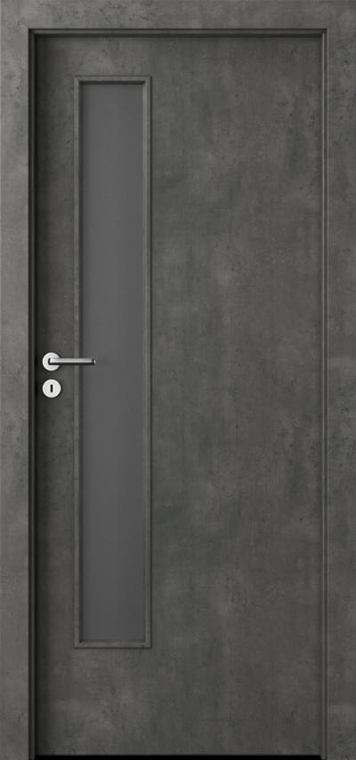 Drzwi wewnętrzne Porta CPL 1.5 Okleina CPL HQ 0,2 ***** Beton Ciemny