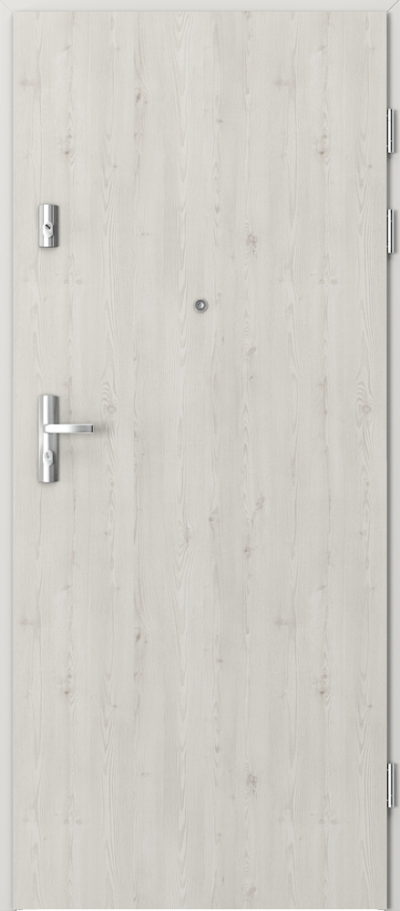 Drzwi wejściowe do mieszkania KWARC pełne Okleina Portasynchro 3D *** Sosna Norweska