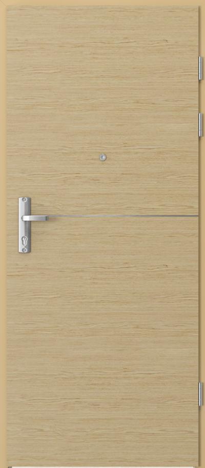 Drzwi wejściowe do mieszkania EXTREME RC3 intarsje 7 Okleina Naturalna Select **** Dąb