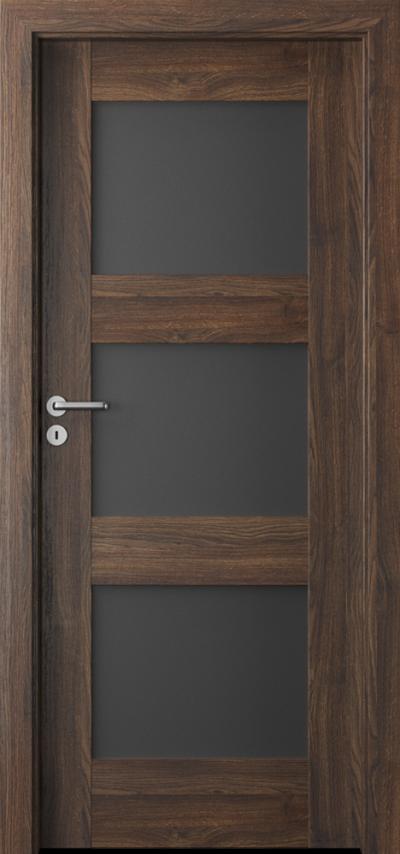 Drzwi wewnętrzne Porta VERTE PREMIUM, B B.3 Okleina Portasynchro 3D *** Dąb Szkarłatny