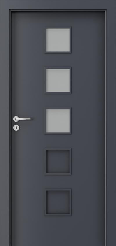 Drzwi wewnętrzne Porta FIT B.3 Okleina CPL HQ 0,2 ***** Antracyt HPL CPL