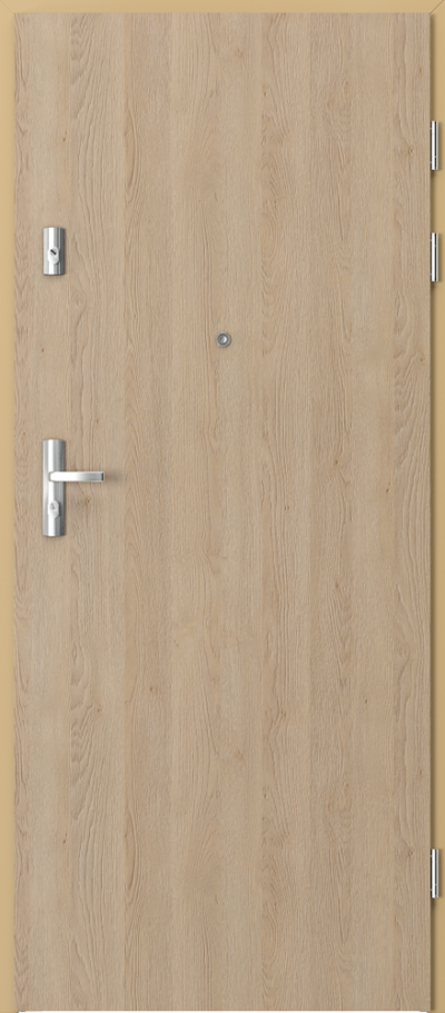 Drzwi wejściowe do mieszkania GRANIT pełne - pion Gladstone ****** Dąb Piaskowy