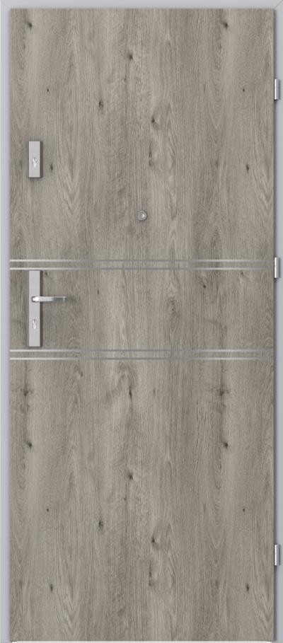 Drzwi wejściowe do mieszkania AGAT Plus intarsje 4