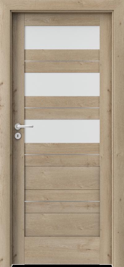 Drzwi wewnętrzne Porta VERTE HOME, C C.3 intarsje Okleina Portaperfect 3D **** Dąb Klasyczny