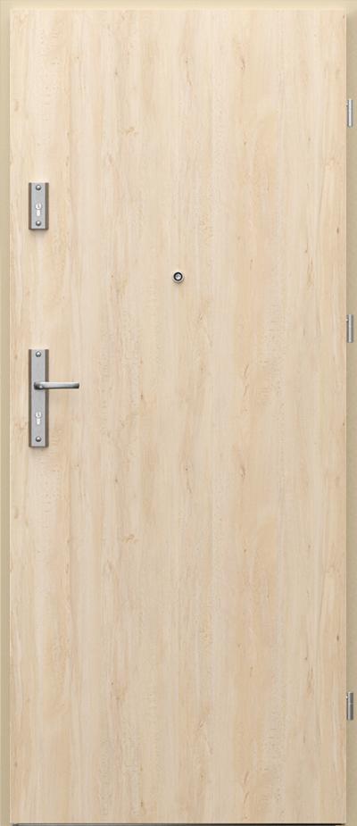 Drzwi wejściowe do mieszkania OPAL Plus pełne Okleina Portaperfect 3D **** Buk Skandynawski