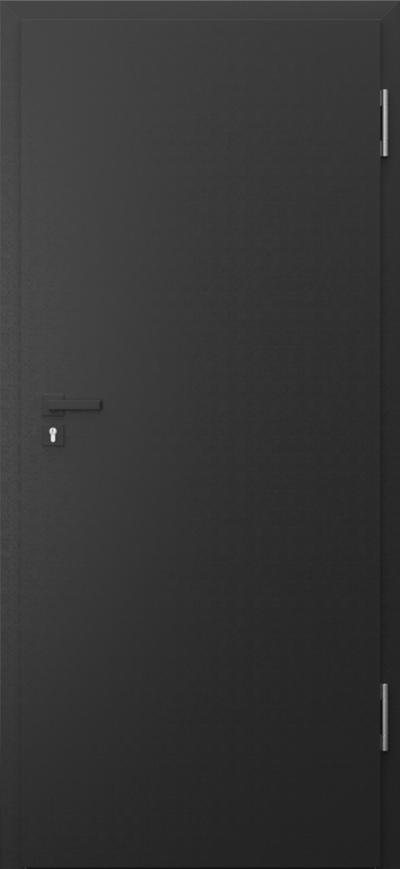 Drzwi techniczne PURE 57dB Pure 57 dB Okleina CPL HQ 0,2 ***** Czarny