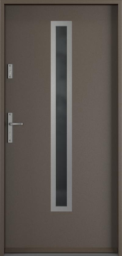 Drzwi wejściowe do domu Steel SAFE RC3 B1 Farba Poliestrowa ***** Metalic Titanium