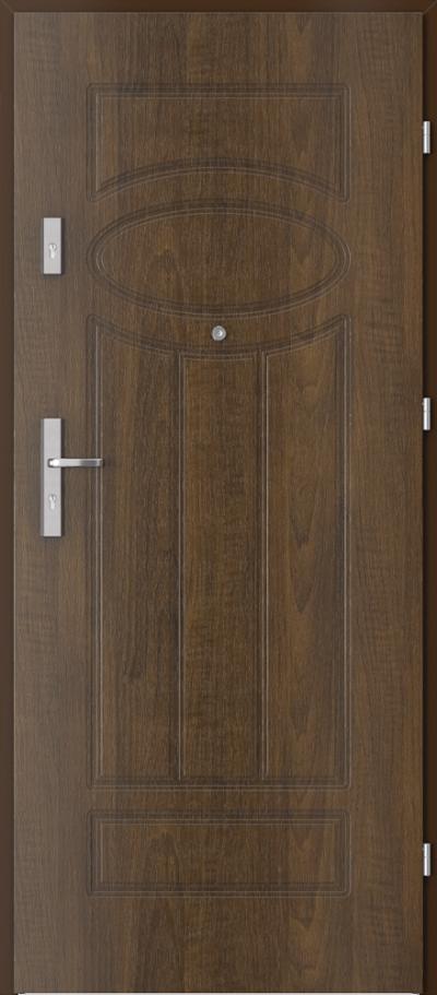 Drzwi wejściowe do mieszkania AGAT Plus frezowane model 4
